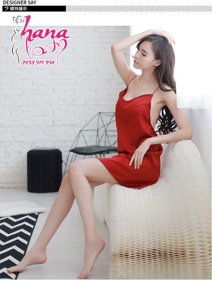 Váy ngủ phi lụa 2 dây hờ hững VN075 6