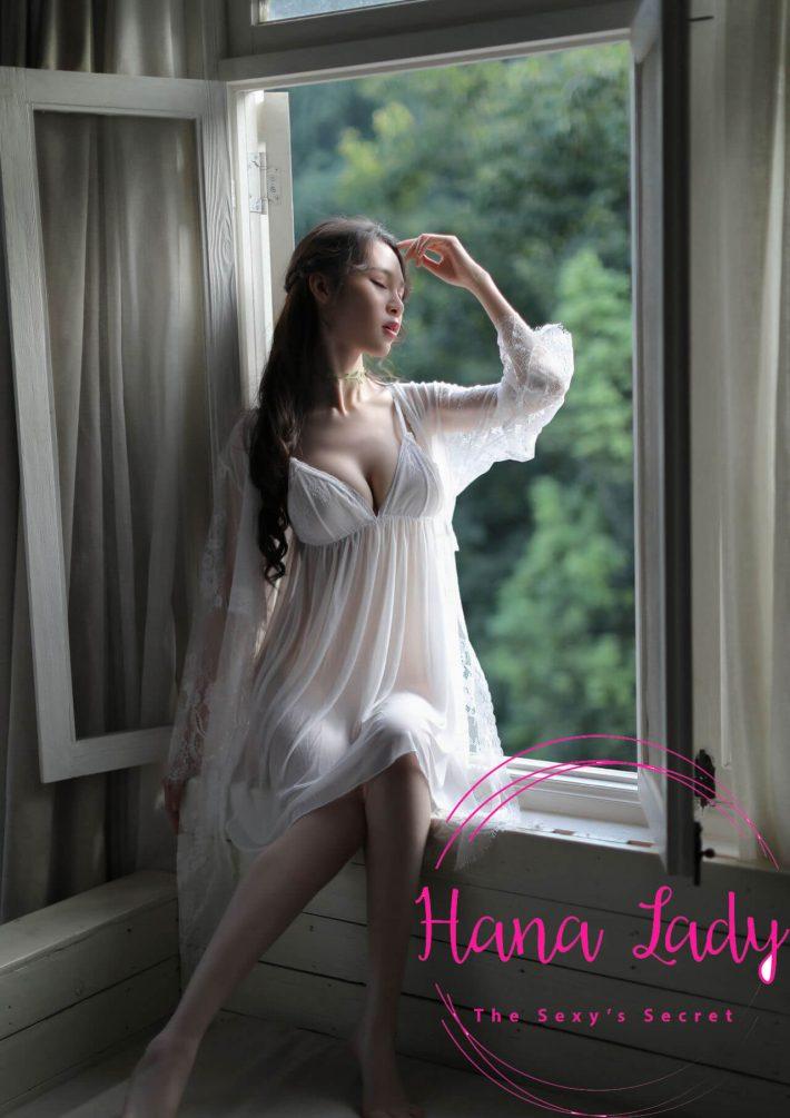 Váy ngủ voan lụa kèm áo choàng tiểu thư VN119 1