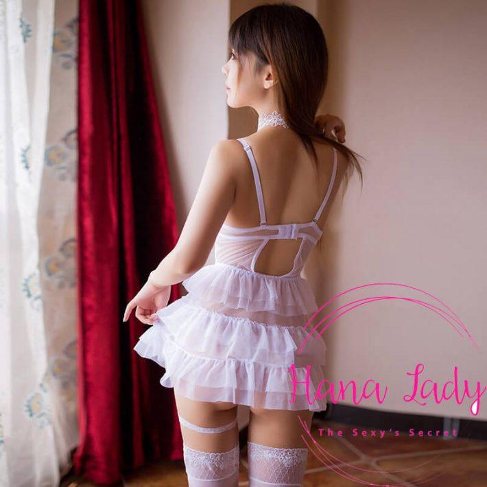 Váy ngủ nâng ngực ren tầng sexy VN139 4
