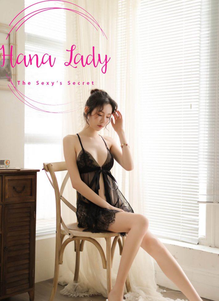 Váy ngủ voan phối ren xuyên thấu xẻ tà sexy VN152 5