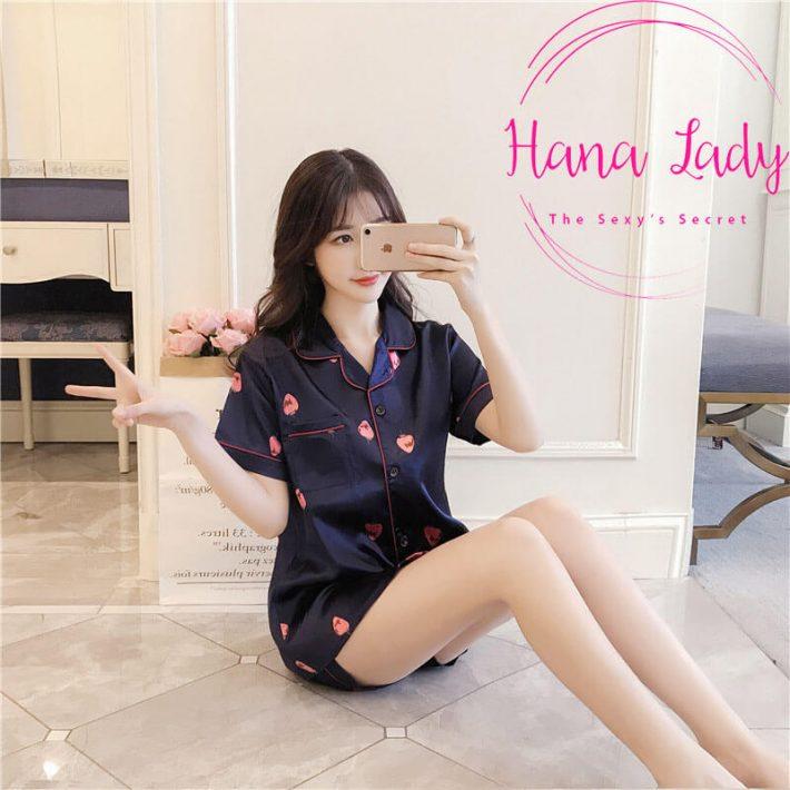 Đồ ngủ lụa Pijama ngắn tay PJ03
