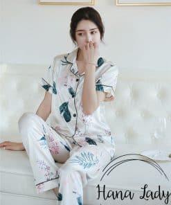 pijama lụa chiếc lá