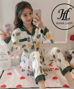Pijama họa tiết lá