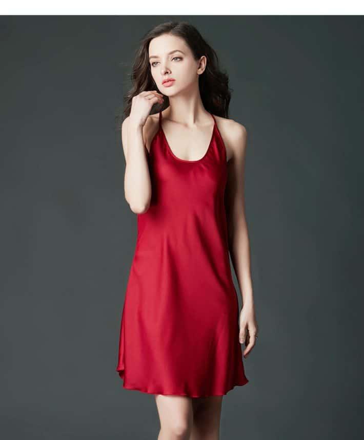Đầm ngủ xẻ tà VN033