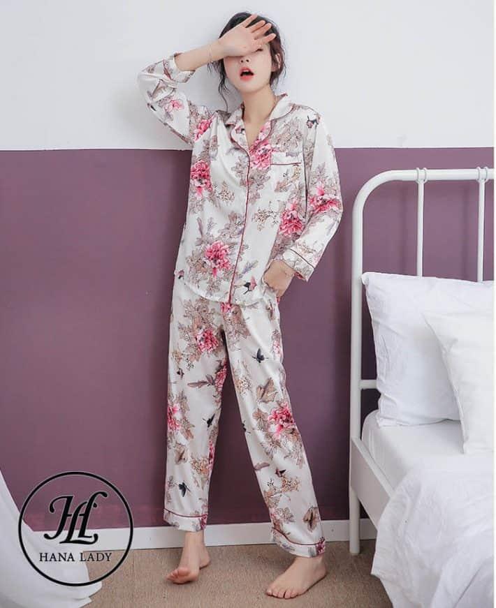 Bộ pijama lụa tằm cao cấp PJ163 1