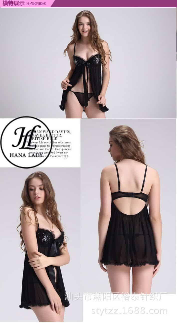 Váy ngủ xẻ tà cúp ngực sexy VN264 5