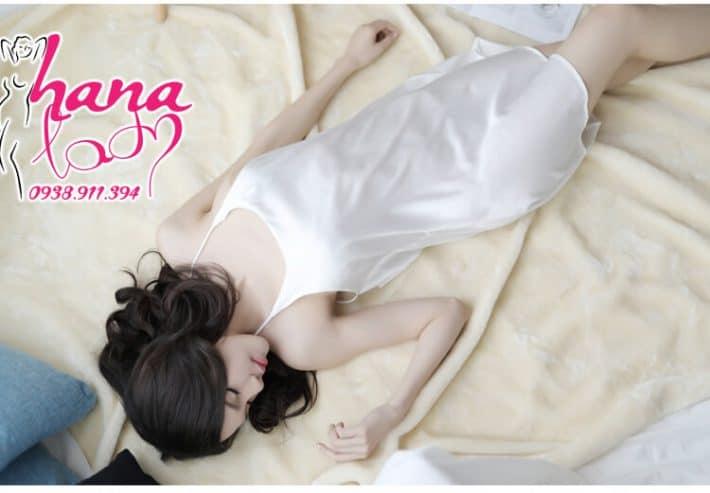 Đầm ngủ lụa cao cấp dây chéo lưng VN062 9