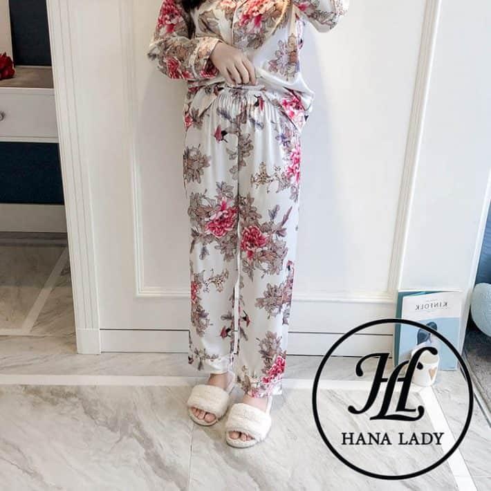 Bộ pijama lụa tằm cao cấp PJ163 2