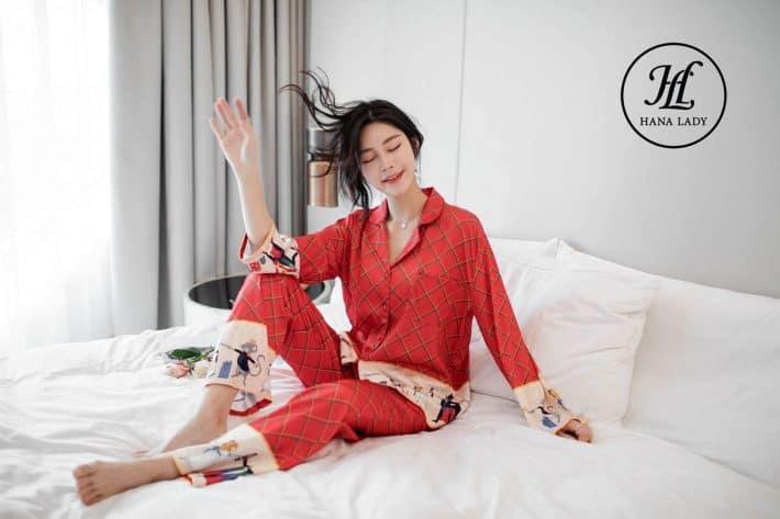 Pijama form sang chảnh lụa tằm cao cấp PJ168 4