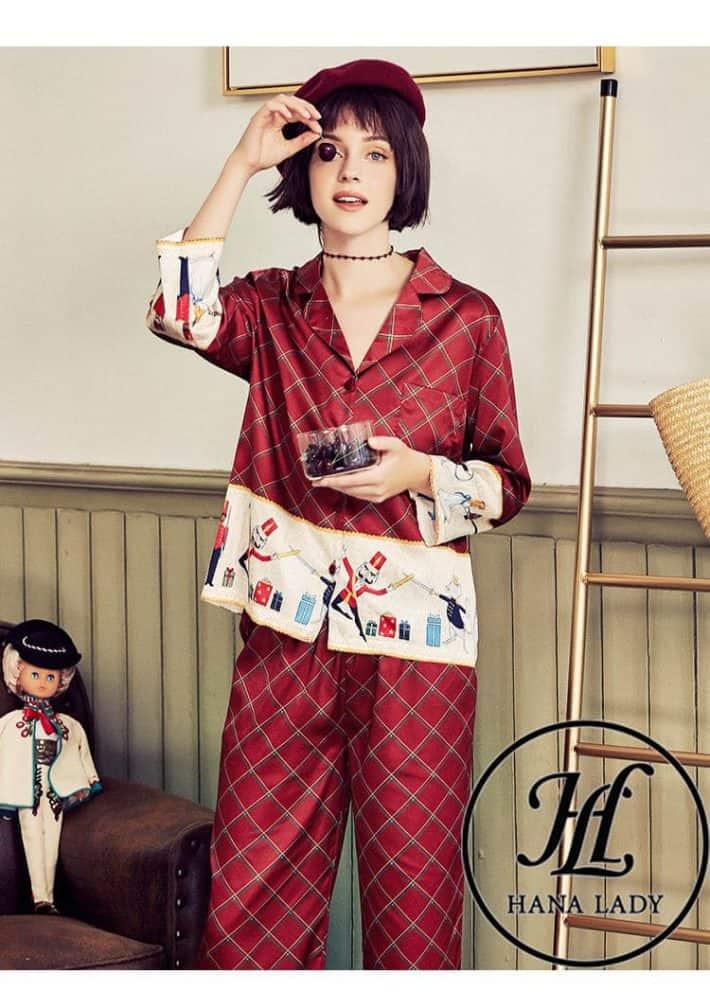 Pijama form sang chảnh lụa tằm cao cấp PJ168 6