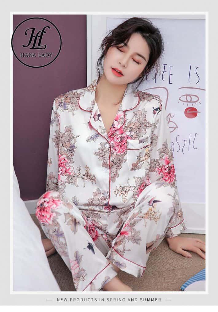 Bộ pijama lụa tằm cao cấp PJ163 6