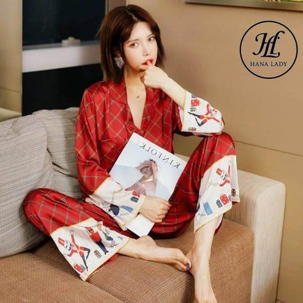 Pijama form sang chảnh lụa tằm cao cấp PJ168 3