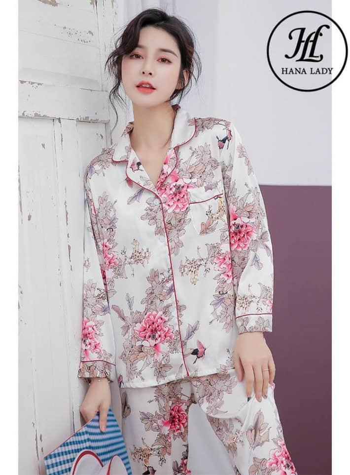 Bộ pijama lụa tằm cao cấp PJ163 5