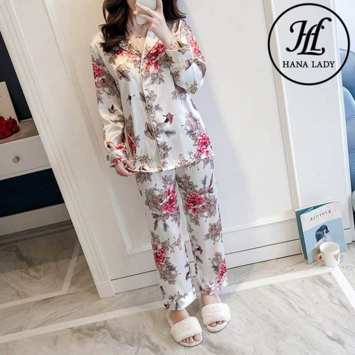 Bộ pijama lụa tằm cao cấp PJ163 4