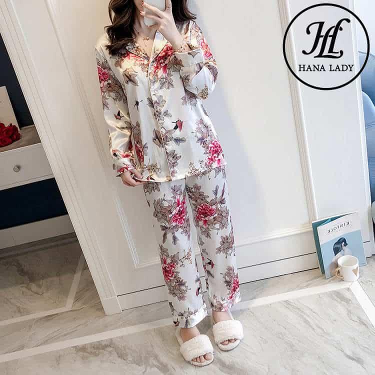 bộ pijama lụa tằm cao cấp PJ163