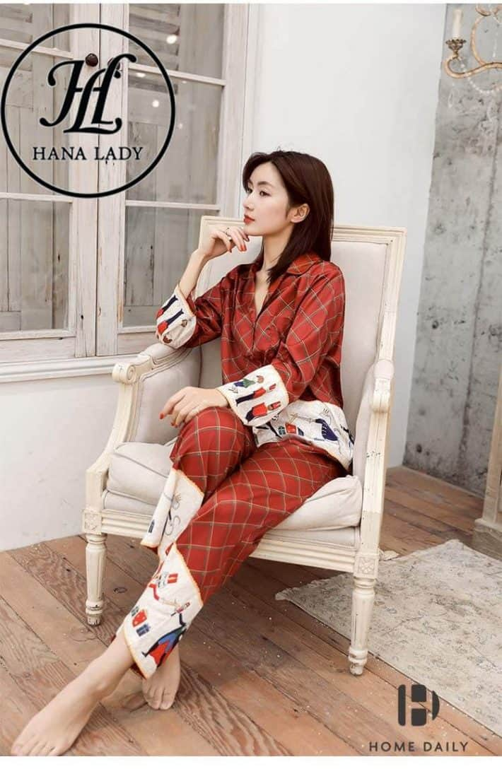 Pijama form sang chảnh lụa tằm cao cấp PJ168 2