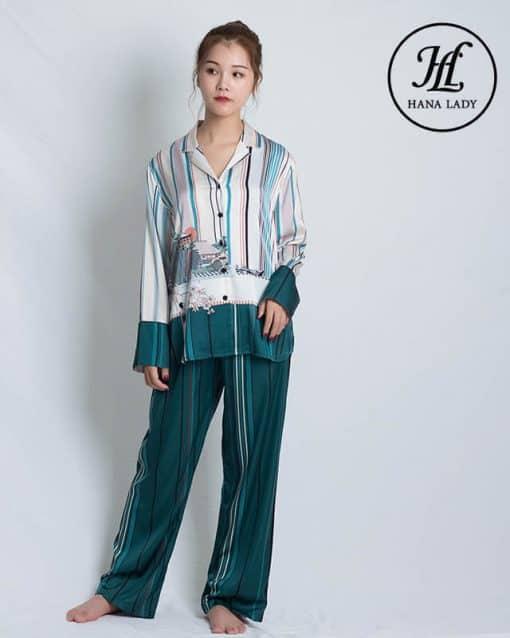 Pijama lụa tơ tằm cao cấp PJ186 4