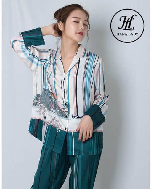 Pijama lụa tơ tằm cao cấp PJ186 3