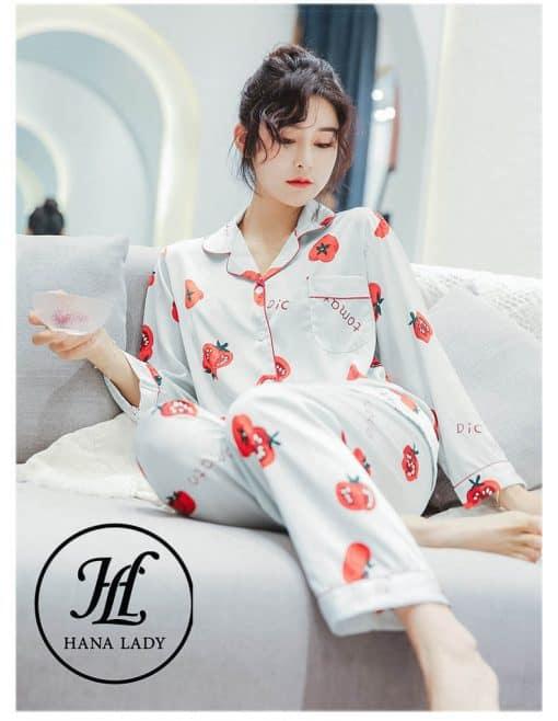 Pijama lụa tằm Tomato cao cấp PJ182 3