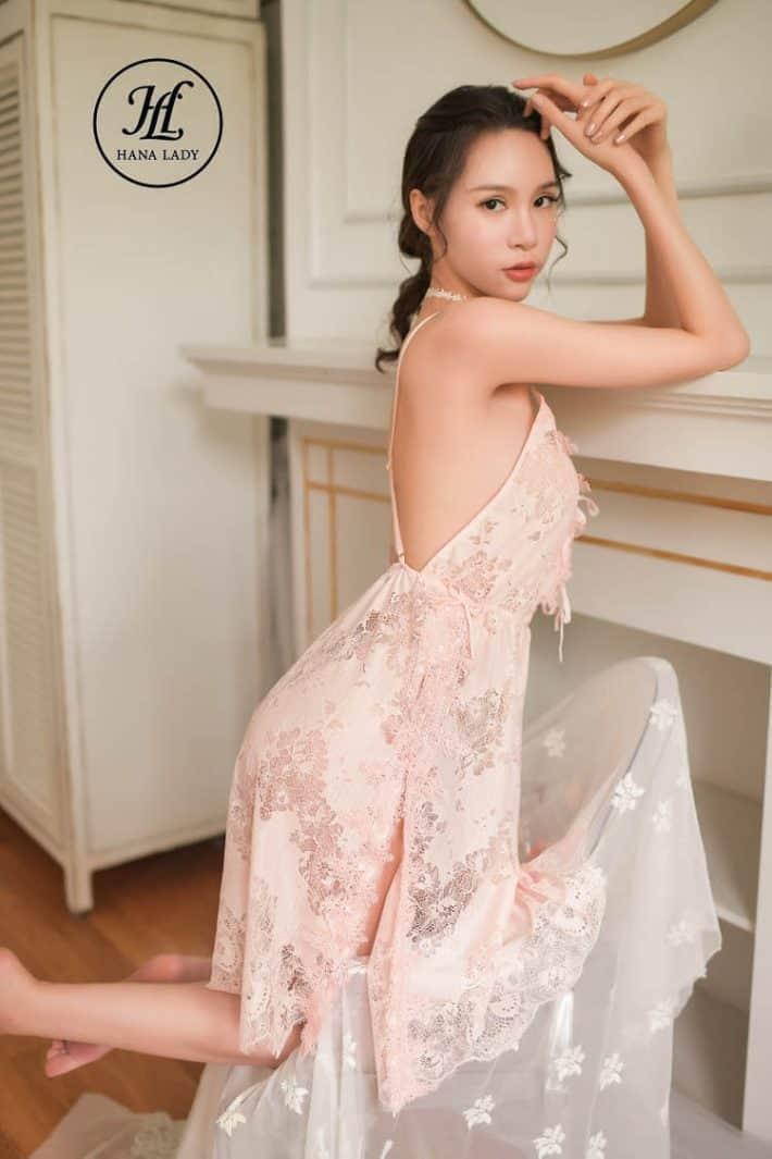 Váy ngủ ren hoa xẻ tà sexy VN277 6