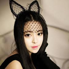 Cài tai mèo mặt nạ ren bí ẩn TM04 3