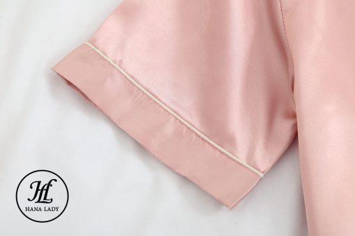 Pijama lụa cao cấp tay cộc hồng PJ192 10