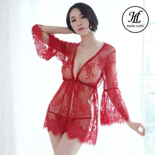 Áo ngủ choàng ren mềm mịn sexy VN296 3