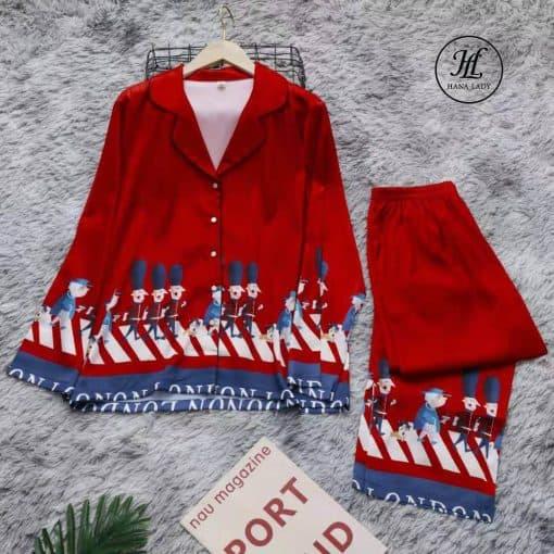 Pijama lụa hoàng gia cao cấp PJ197 10