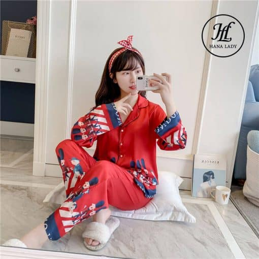 Pijama lụa hoàng gia cao cấp PJ197 3