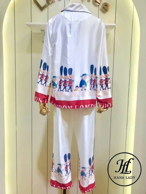 Pijama họa tiết hoàng gia lụa tằm cao cấp PJ196 8